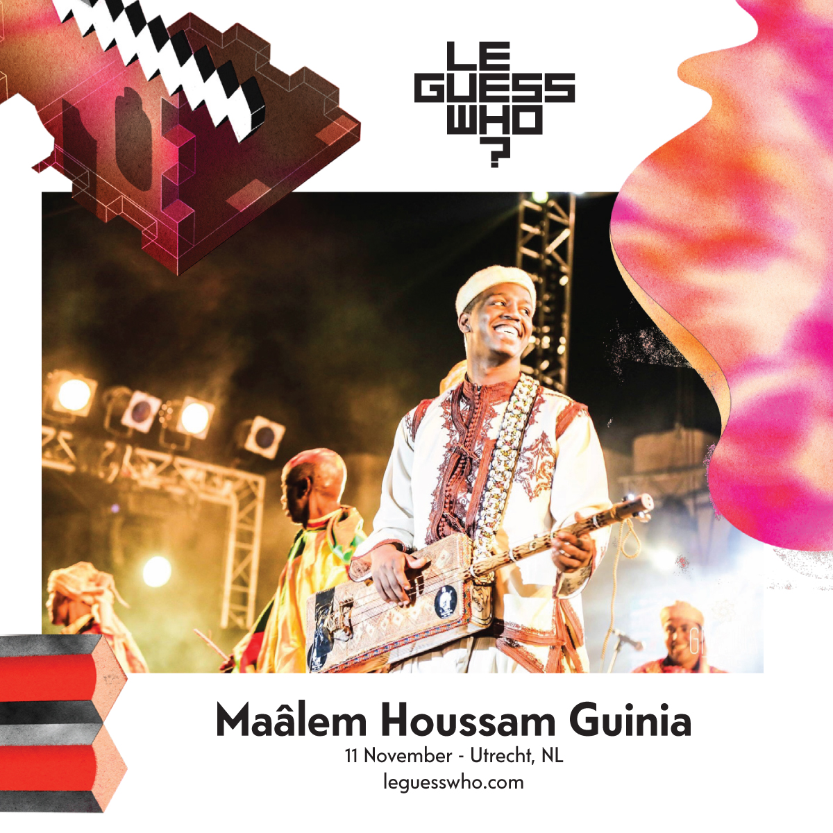 Meet Moroccan Gnawa master Maâlem Houssam Guinia, curated by James Holden for LGW17